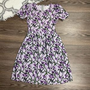 Lularoe Purple Floral Dress Size Small